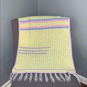 Pastel Vintage baby blanket